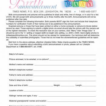 birth announcement template 23