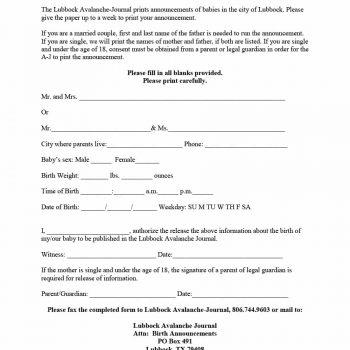 birth announcement template 44