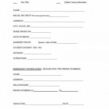 employee information form 11