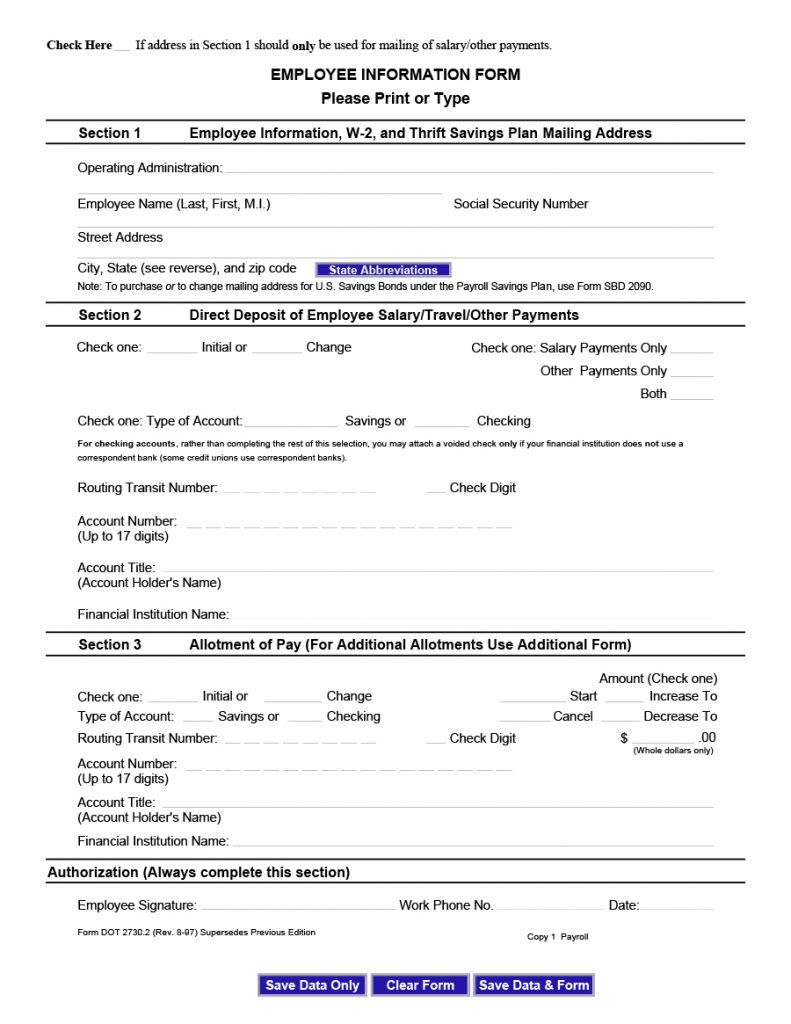 employee information form 14