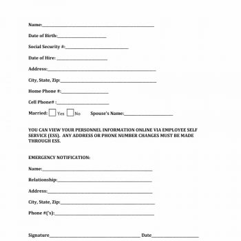 employee information form 18