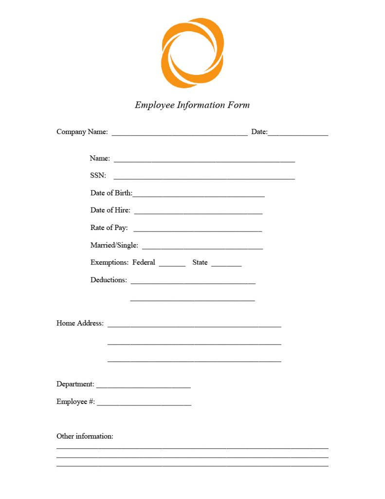 employee information form 21