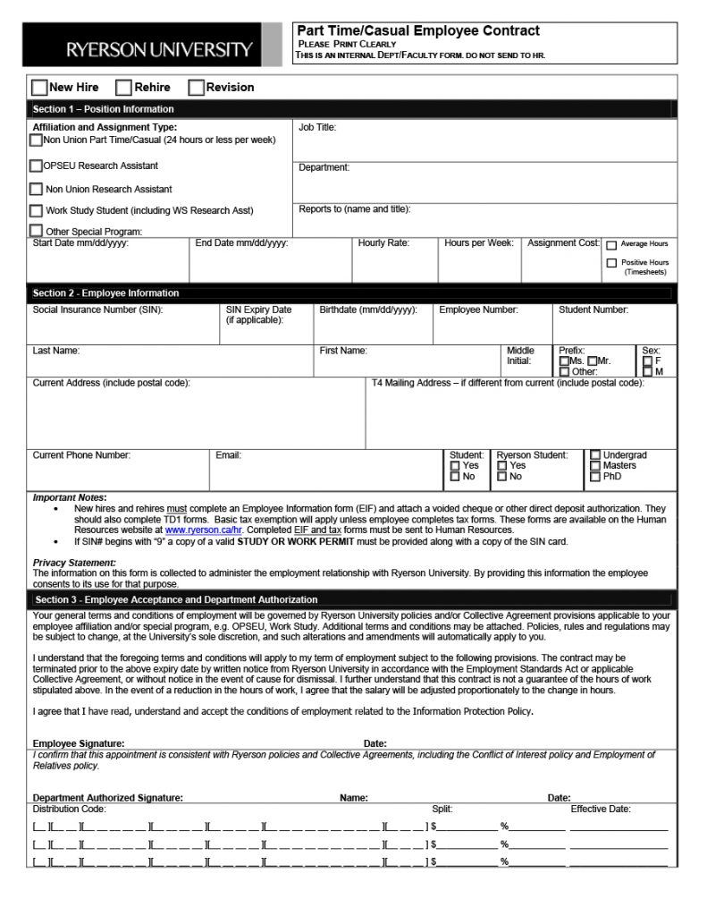 employee information form 22