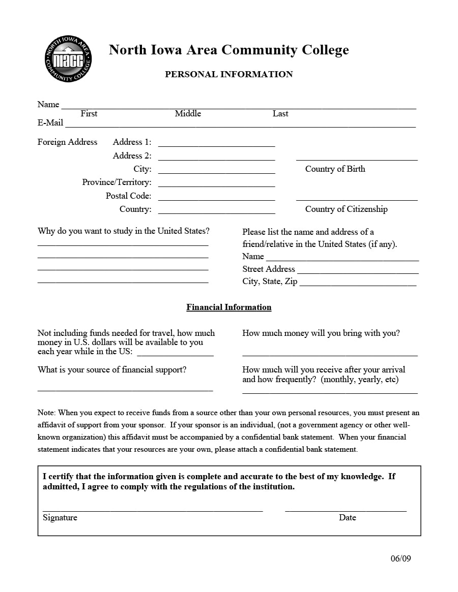 employee information form 23