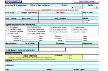 employee information form 27