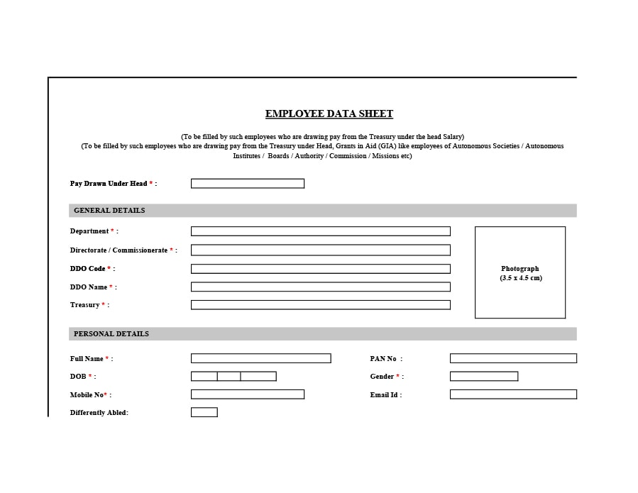 Employee Information Form 32