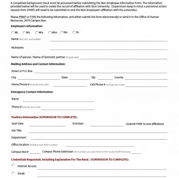employee information form 43