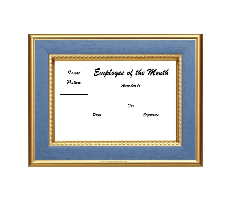 Employee Of The Month Certificate Template 01  Best Employee Certificate Sample