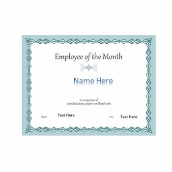 employee of the month certificate template 02