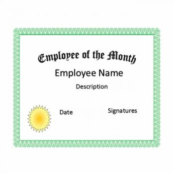 employee of the month certificate template 03
