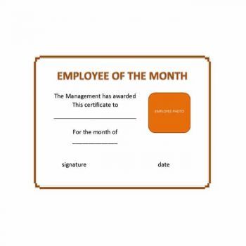 employee of the month certificate template 04