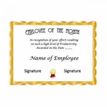 employee of the month certificate template 07