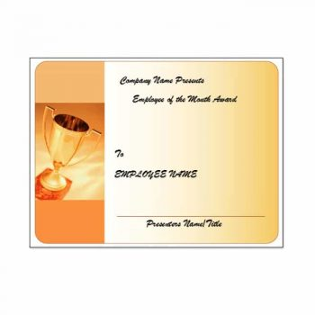employee of the month certificate template 09