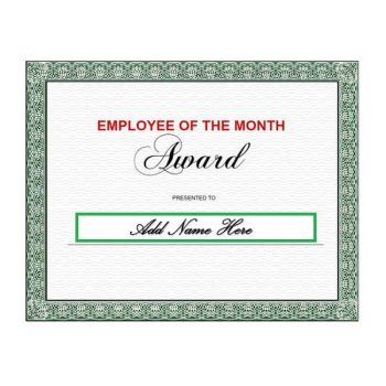employee of the month certificate template 10