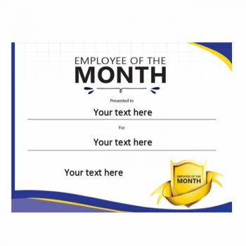 employee of the month certificate template 11