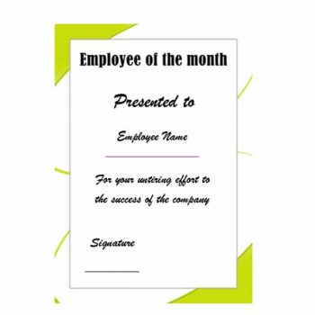 employee of the month certificate template 13
