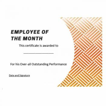 employee of the month certificate template 16