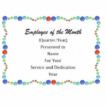 employee of the month certificate template 19