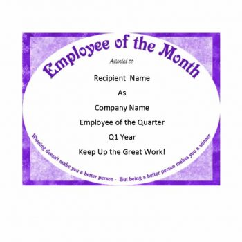employee of the month certificate template 21