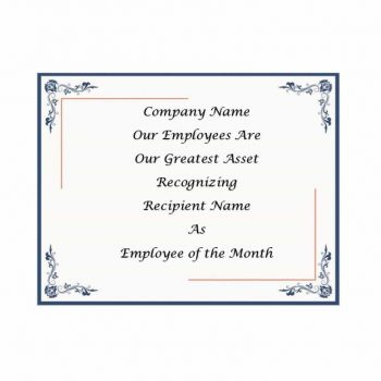 employee of the month certificate template 22