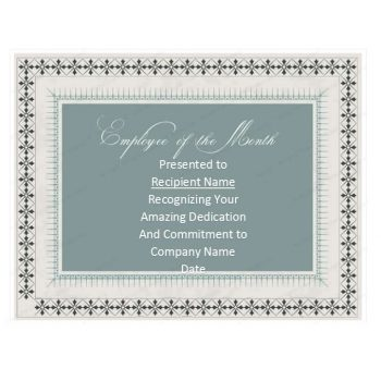 employee of the month certificate template 23