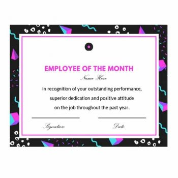 employee of the month certificate template 24