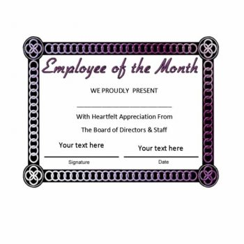 employee of the month certificate template 25
