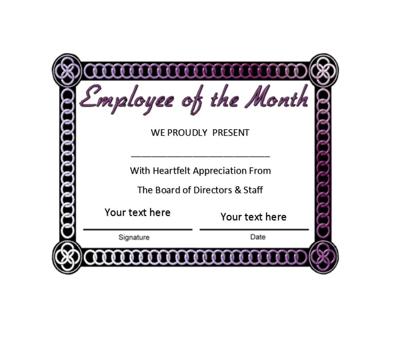 30 printable employee of the month certificates template archive employee of the month certificate template 25 yelopaper Choice Image