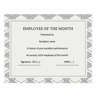employee of the month certificate template 26