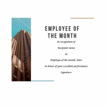 employee of the month certificate template 27