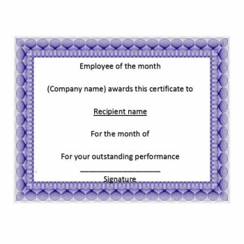 employee of the month certificate template 28