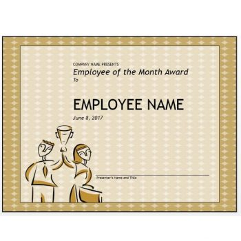 employee of the month certificate template 30