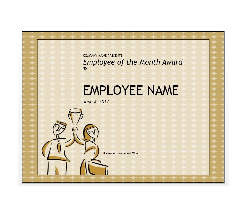 30 printable employee of the month certificates template archive