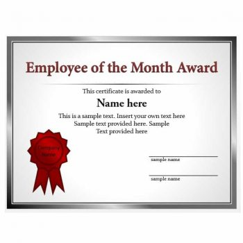 employee of the month certificate template 31