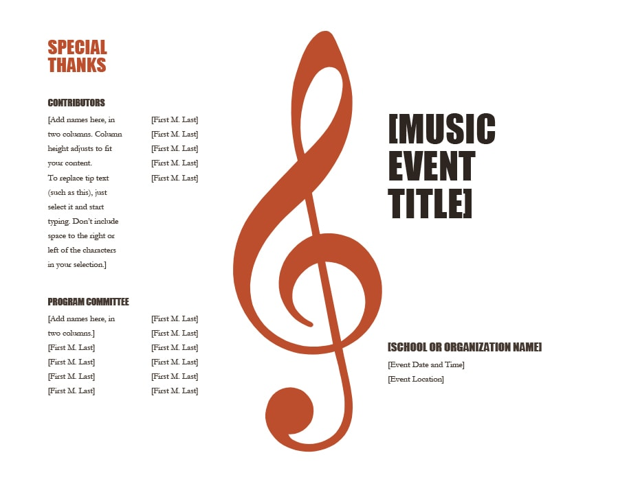 40 free event program templates designs template archive