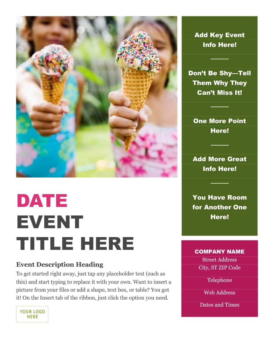 21+ Free Event Program Templates / Designs - TemplateArchive Within Free Event Program Templates Word