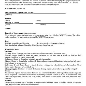 room rental agreement 01