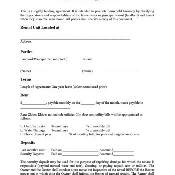 room rental agreement 03