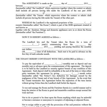 39 Simple Room Rental Agreement Templates - Template Archive