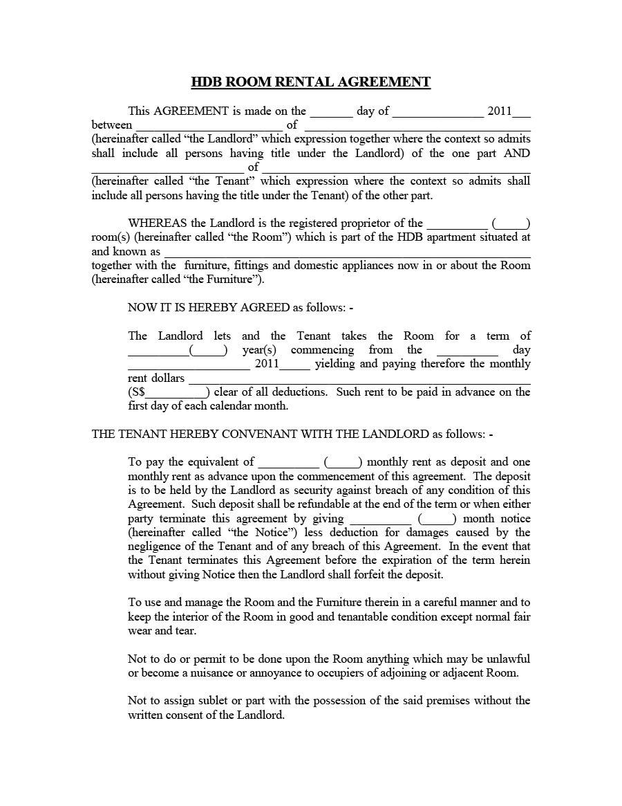 Room Rental Agreement 16