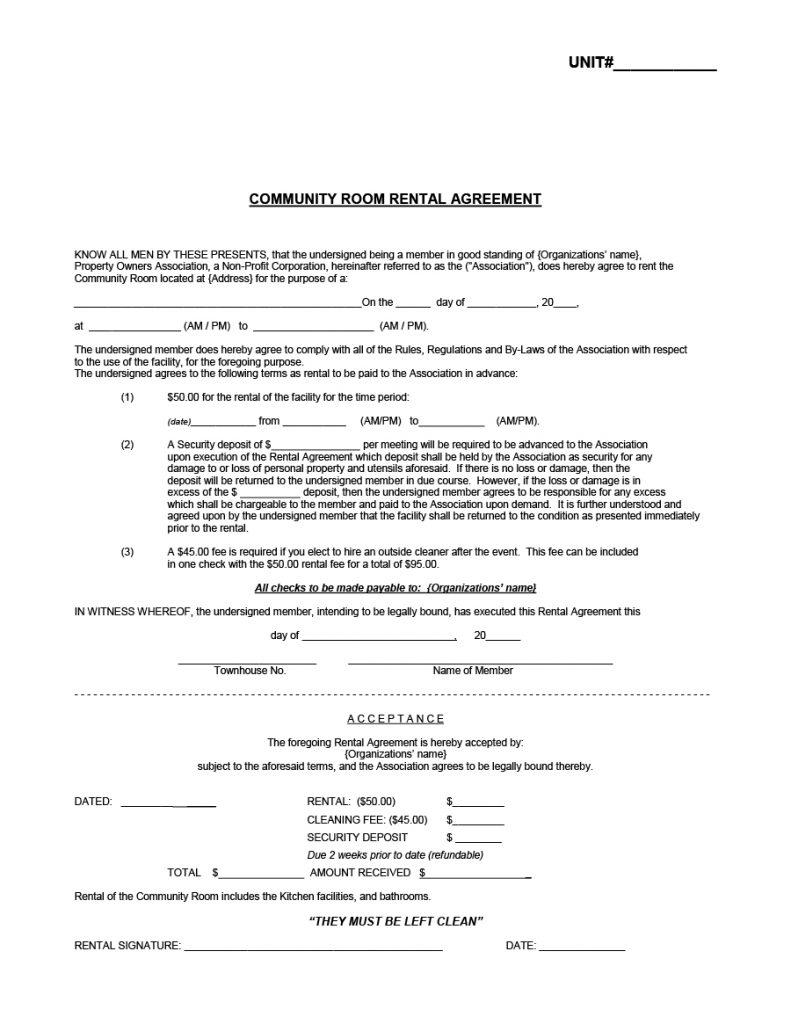 39 simple room rental agreement templates