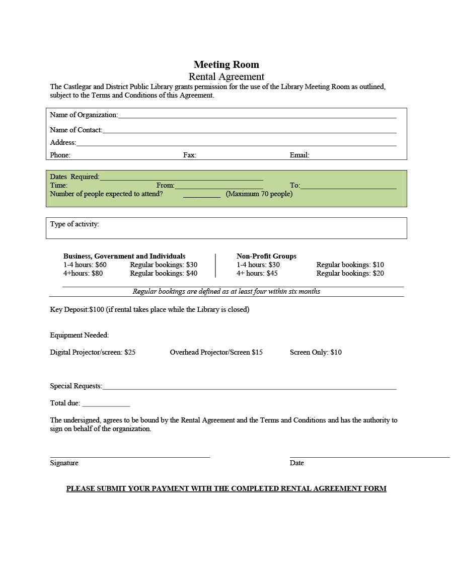 booking terms and conditions template - 39 simple room rental agreement templates template archive