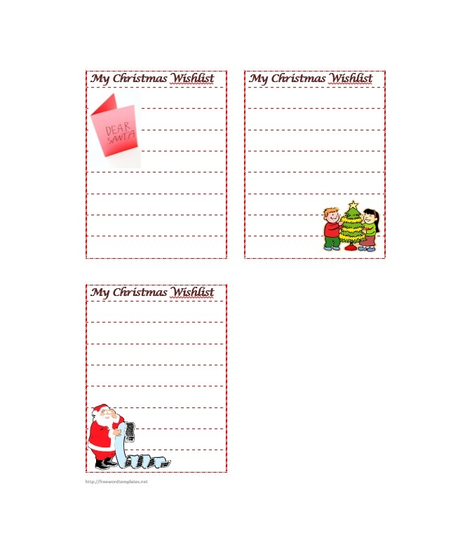 photo about Printable Wish Lists identified as 43 Printable Xmas Need Record Templates Strategies