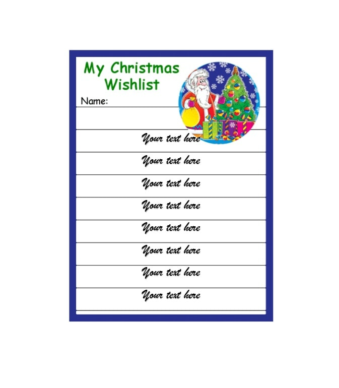 Perfect Christmas Wish List Template 07 Regard To Christmas Wish List Templates