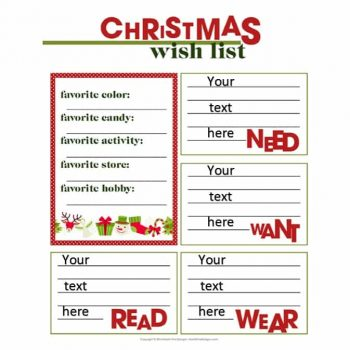christmas wish list template 08