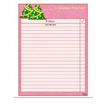 christmas wish list template 11