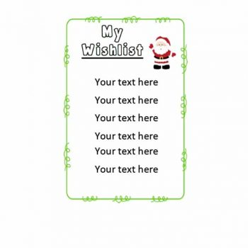 christmas wish list template 15