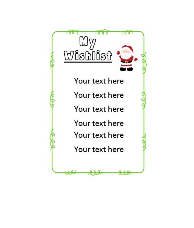 christmas wish list template 15