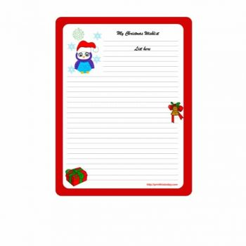 christmas wish list template 17