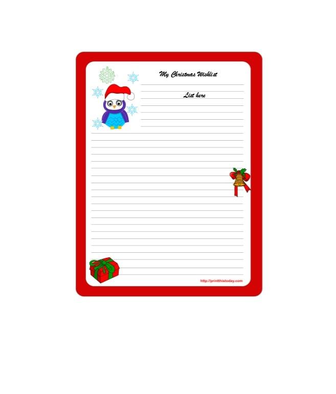 christmas wish list template 17